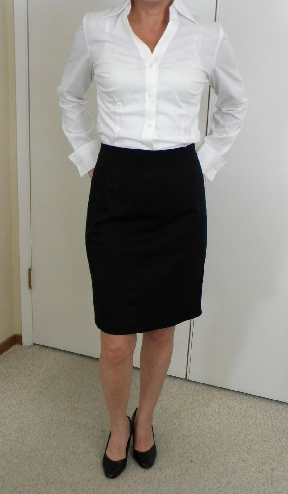 Black Pencil Skirt And White Shirt | Jill Dress